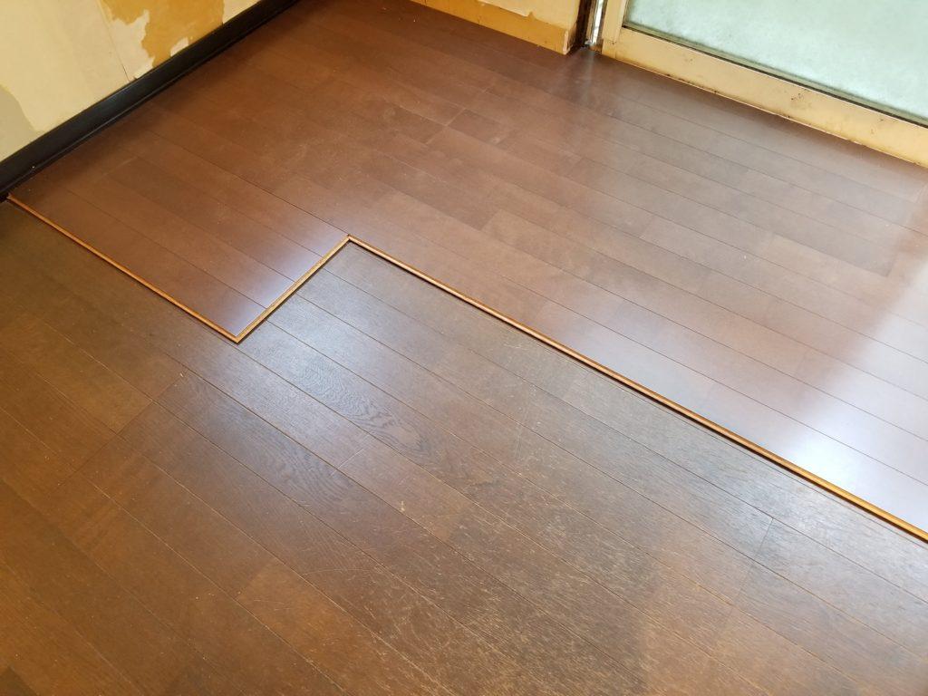 床張替えリフォームの施工中