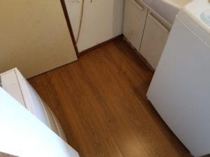 洗面所の床のリフォーム